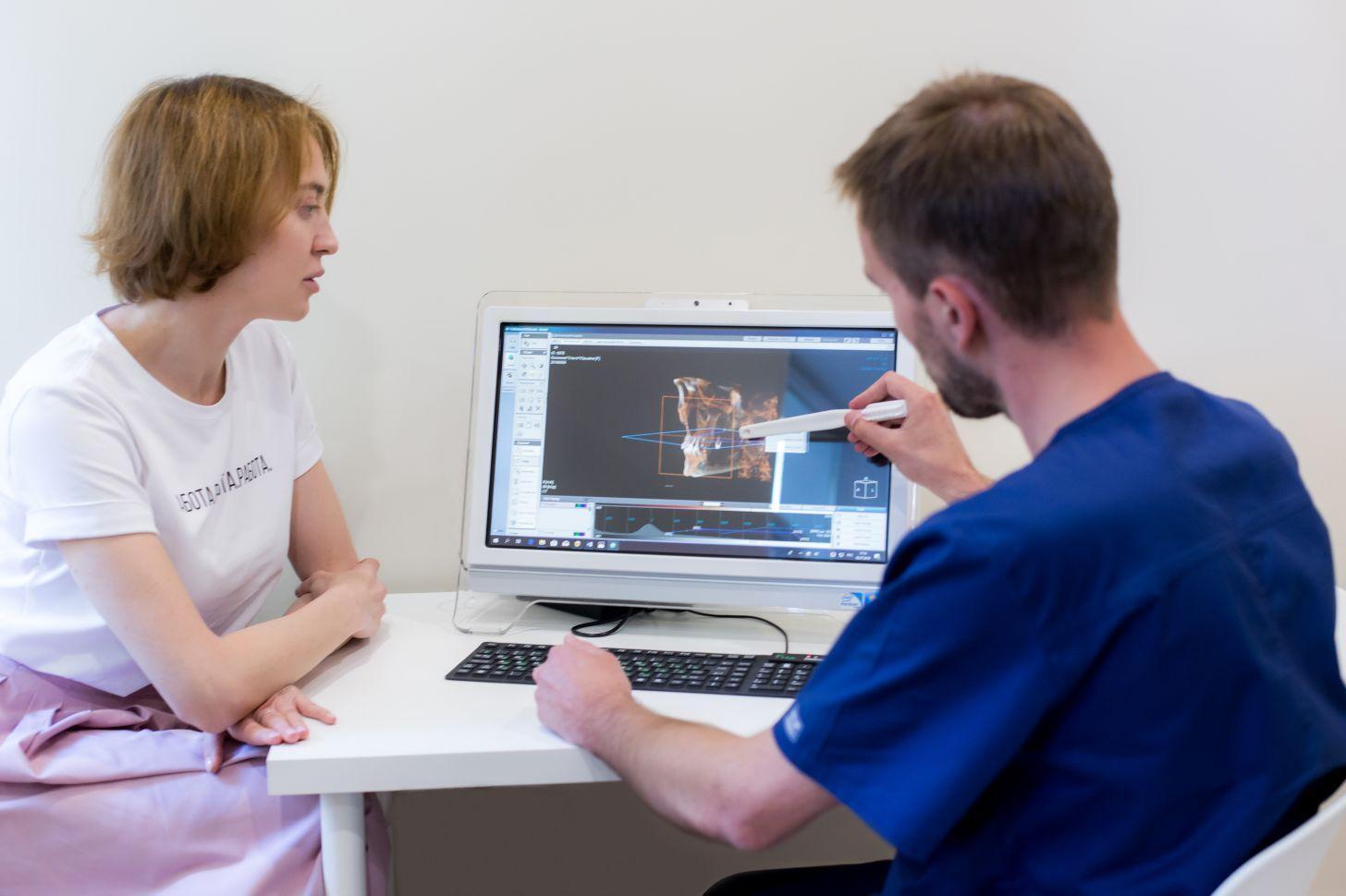 Компьютерная диагностика шишки на десне