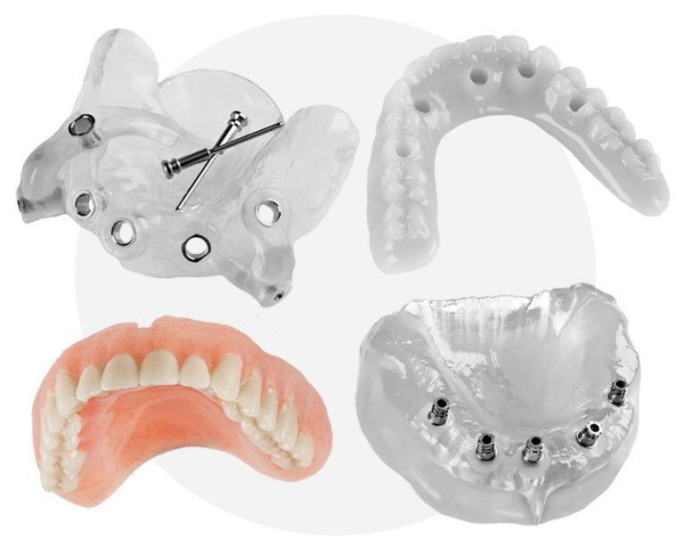 Полный зубной протез при отсутствии всех зубов